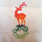 A Christmas stamp from Guadalupes Fun Rubber Stamps.